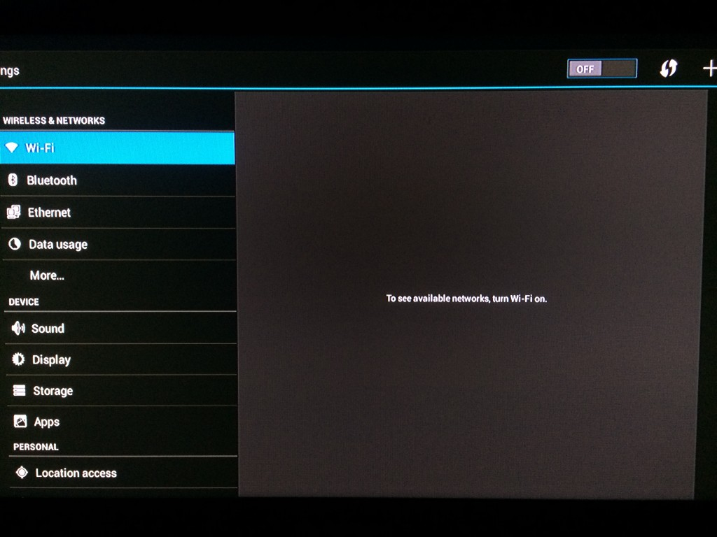 , Configure Network Settings Wifi/Ethernet on the DroidPlayer Android Box
